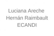 Luciana Areche y Hernán Raimbault