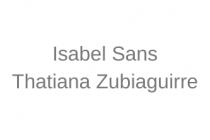 Isabel Sans - Thatiana Zubiaguirre